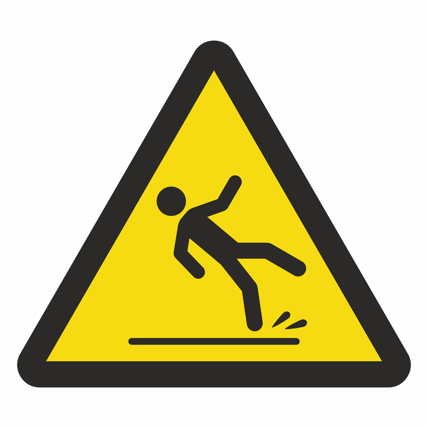 Caution wet floor sign, if you need a slip in fall attorney in Flint contact one of the best.