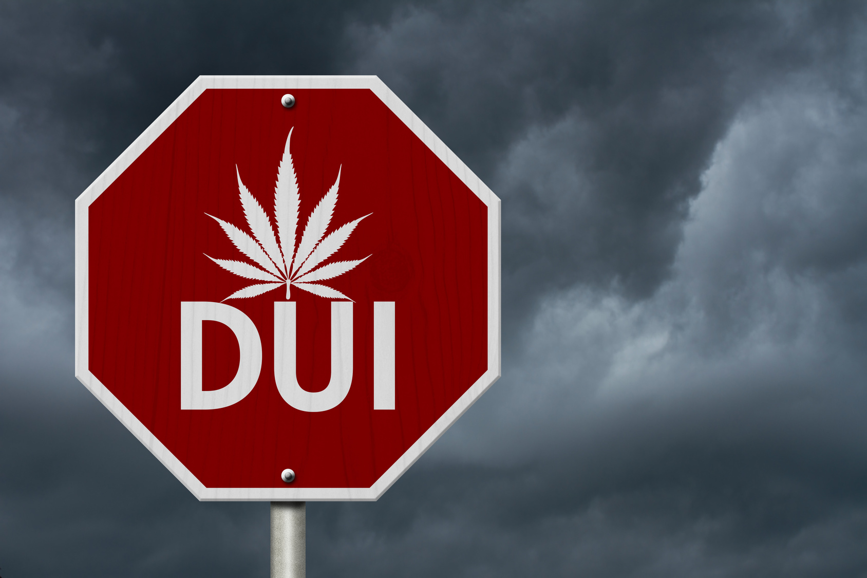 Stop Driving Under the Influence Road Sign and you will find a top DUI attorney in Flint.